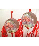 2 FOLK ART CARDBOARD DIE CUT XMAS NOISEMAKER OR... - $14.19