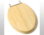 Buy Comfort Seats C1B2E-14BR Bamboo Elongated Toilet Seat