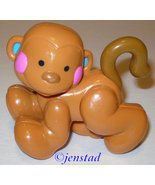PLASTIC RATTLER BROWN MONKEY ANIMAL RATTLE TOY ... - $5.94