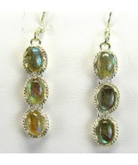 Blue Flash Labradorite Oval Cabochons tooled St... - $79.68