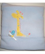 Carter's Blue and White Baby Blanket Giraffe an... - $16.99