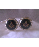 Masonic cufflinks austrian crystal