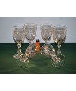 A Set of 6 Antique Crystal cut and Etched Wine ... - $265.00