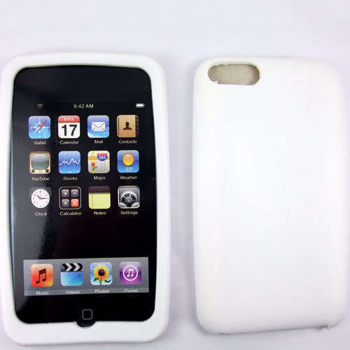 White  Silicone Skin Case for Apple iPod Touch 2 3 2G 3G