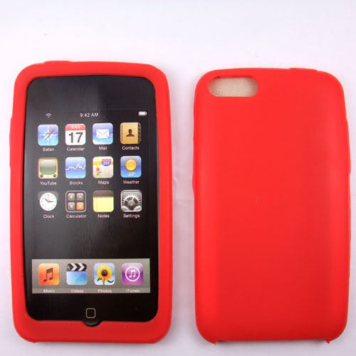 Red  Silicone Skin Case for Apple iPod Touch 2 3 2G 3G