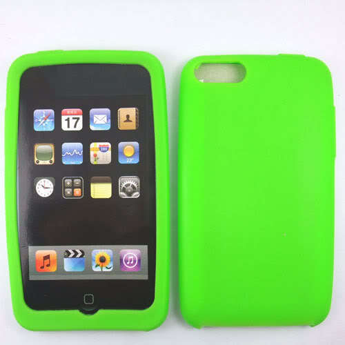 Green Silicone Skin Case for Apple iPod Touch 2 3 2G 3G