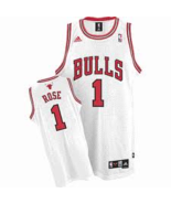 Derrick Rose Chicago Bulls SEWN Adidas Swingman Jersey Mens Small