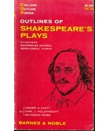 Outlines of Shakespeare's Plays (College Outlin... - $5.95