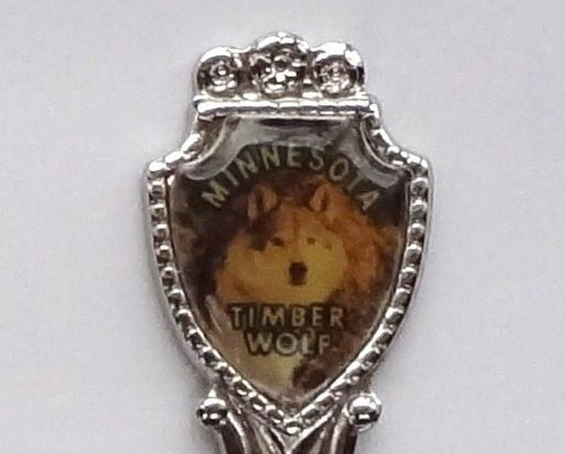 Collector Spoon USA Minnesota Timber Wolf Souvenir