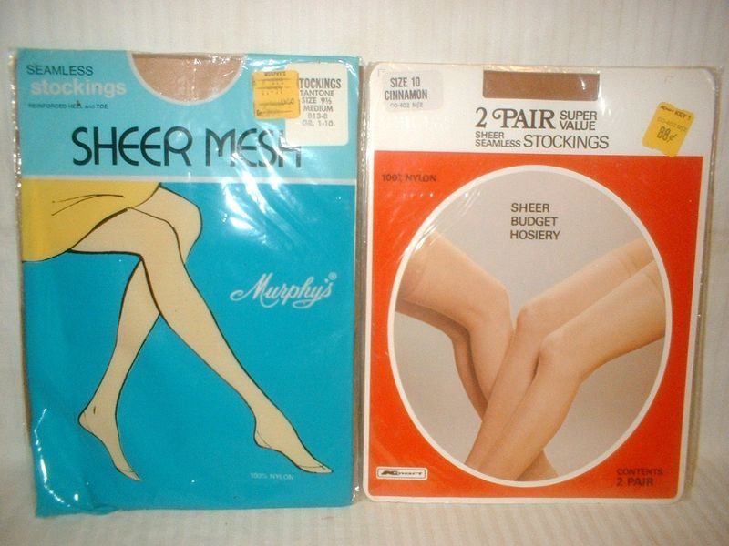 3pr Vintage Nylon Stockings SZ 9 1/2 & 10 New Old Stock