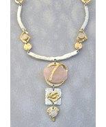 Pink Semi-Precious Stone Necklace Unique Silver... - $375.00