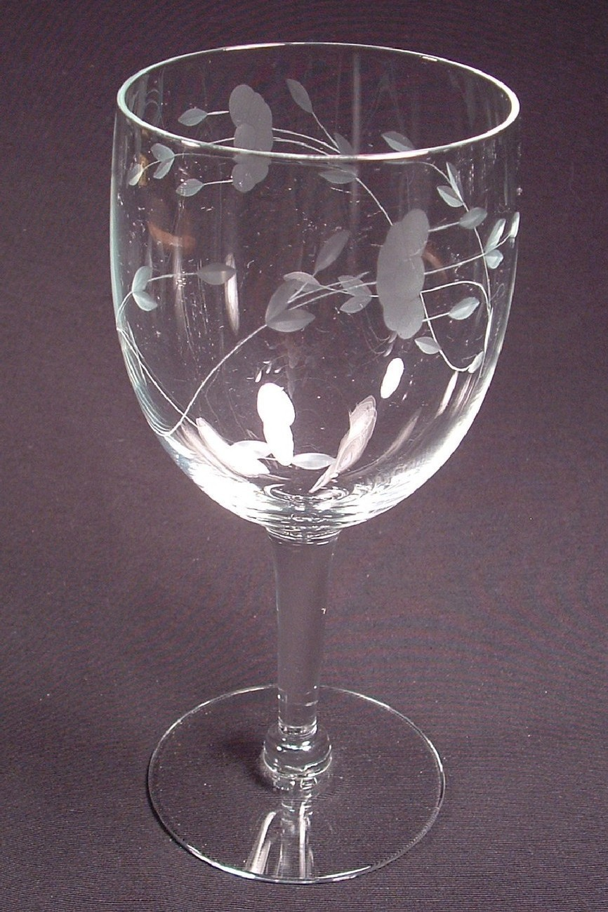 Princess house heritage glassware water goblet princess for Princess housse