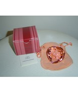 Feng Shui Pink Crystal Heart with Gift Bag, Box... - $10.00