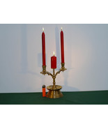 Antique 19th. Cent. Flemish Brass Candlestick  - $110.00