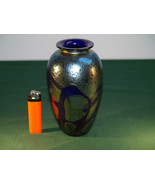 A  Modern Designer Iridescent Art Glass Vase.  - $187.00