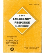 1984 Emergency Response Guidebook (DOT P 5800.3) - $8.95