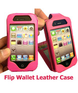New Hot Pink Flip Wallet Card Leather Case Cove... - $15.50