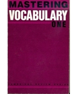 Mastering Vocabulary: Book One (With Answer Key) - $9.95