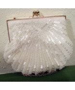 Walbaeg Beaded Purse White 6 inches Wide - $9.99