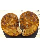 3 Inch Ammonite Fossil Cut Pair - $22.00