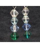 Fading Green Ice Cube Earrings - $10.00
