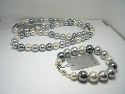 Vintage Simulated Pearls Necklace /Bracelet Richelieu