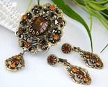 Vintage_hobe_pendant_brooch_earrings_demi_parure_rhinestone_amber_thumb155_crop