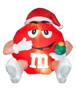 Airblown/ Inflatable Red M & M with Ornament Lighted Gemmy