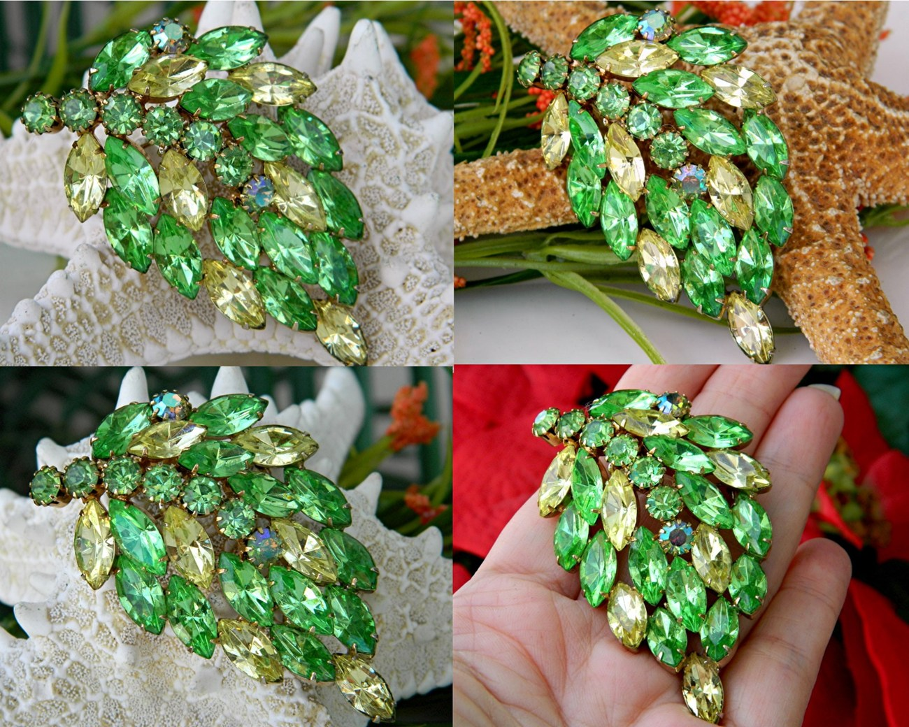 Vintage_marquise_rhinestone_leaf_brooch_green_yellow