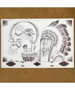 Navajo Chief Ink Sketch Print - $49.97