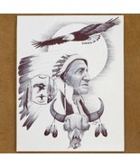 Navajo Soaring Eagle Ink Drawing Print - $49.97