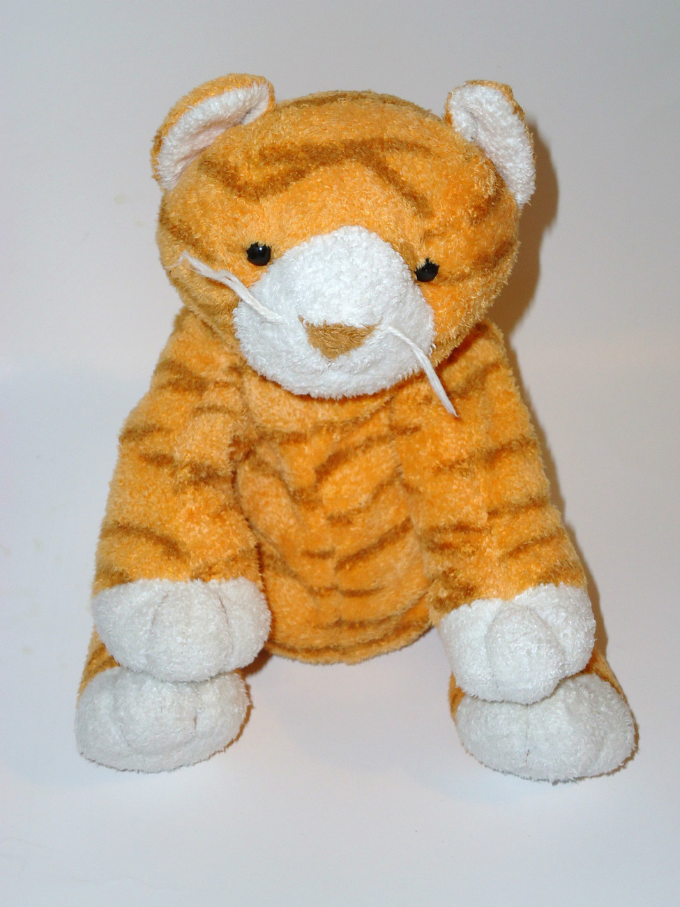 Ty Pluffies Purrz Orange Tabby Cat Kitten Plush Stuffed Animal
