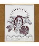 Stoic Mud Clan Warrior Wildlife Ink Drawing Print - $49.97