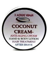 Natural creamy coconut skin hair moisturizing lotion Hawaiian Coconut Cream 2oz  - $18.00