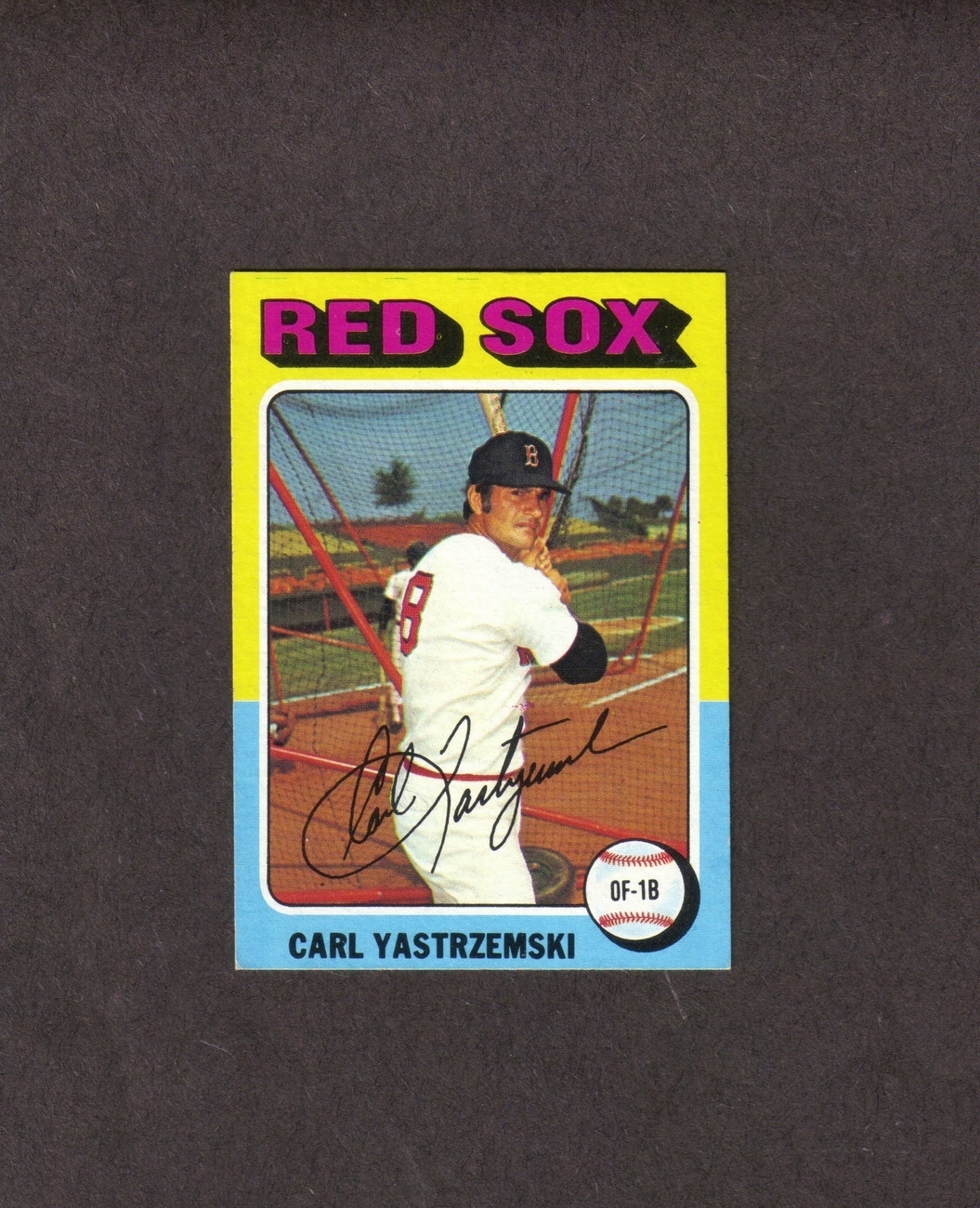 1975 Topps # 280 Carl Yaz Yastrzemski Boston Red Sox