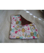 New Plush,Tag Mini Security Blanket-Brown ,Bees... - $9.99