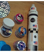 PRICE REDUCED! RARE 1995 Apollo 13 Rocket Container and Pog Set