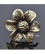 Copper Flower Adjustable Ring - $11.95