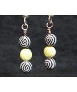 Black/Yellow Egyptian Eye Earrings - $5.00