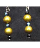 Glitter Gold Oil Spill Earrings - $10.00