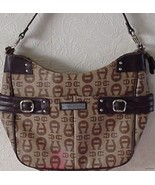 ETIENNE AIGNER SIGNATURE BROWN EXTRA LARGE TOTE... - $55.95