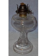 Antique Vintage Clear Glass Kerosene Lamp Beade... - $22.50