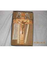 Vintage Last Rites Sick Call Crucifix Blond Woo... - $99.99