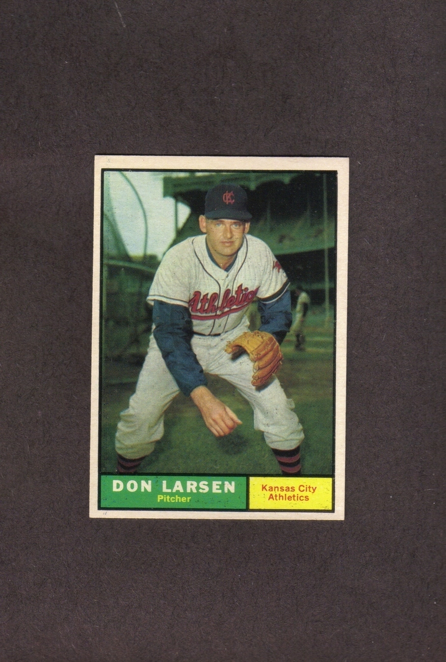 1961 Topps # 177 Don Larsen Kansas City Athletics