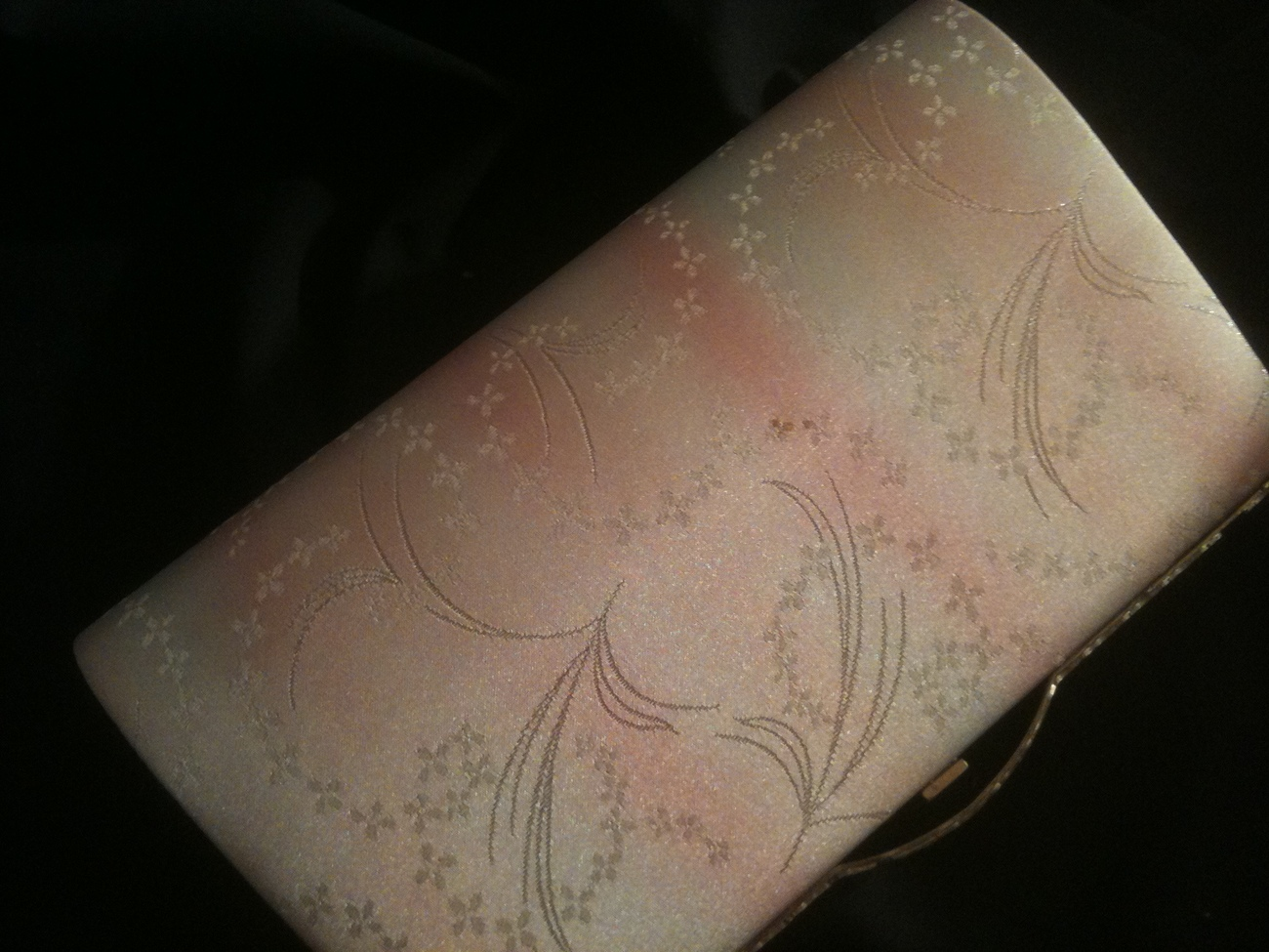 Dreamy pastel & silverJapanese woven pretty obi convertible clutch/ purse