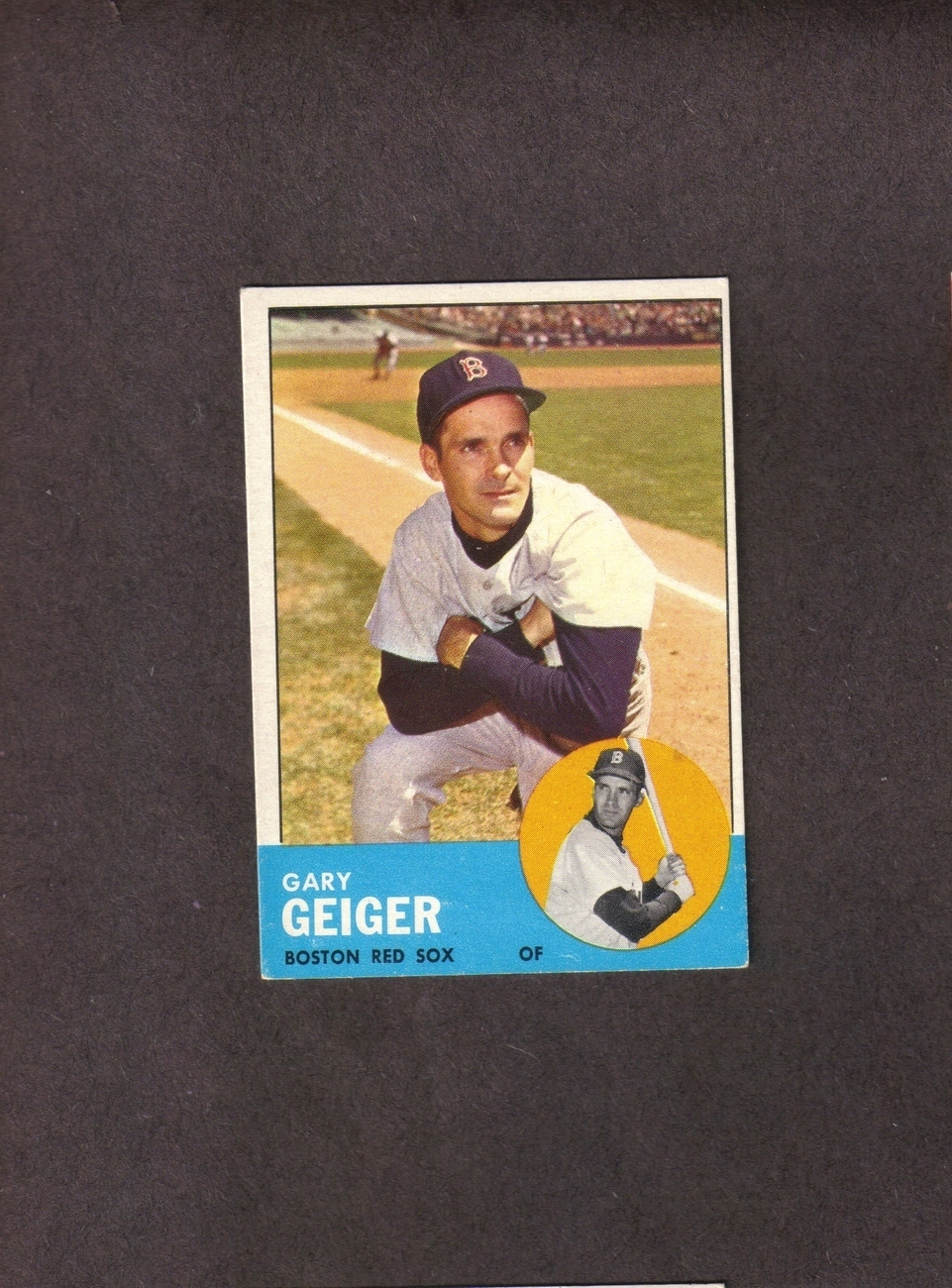 1963 Topps high # 513 Gary Geiger Boston Red Sox