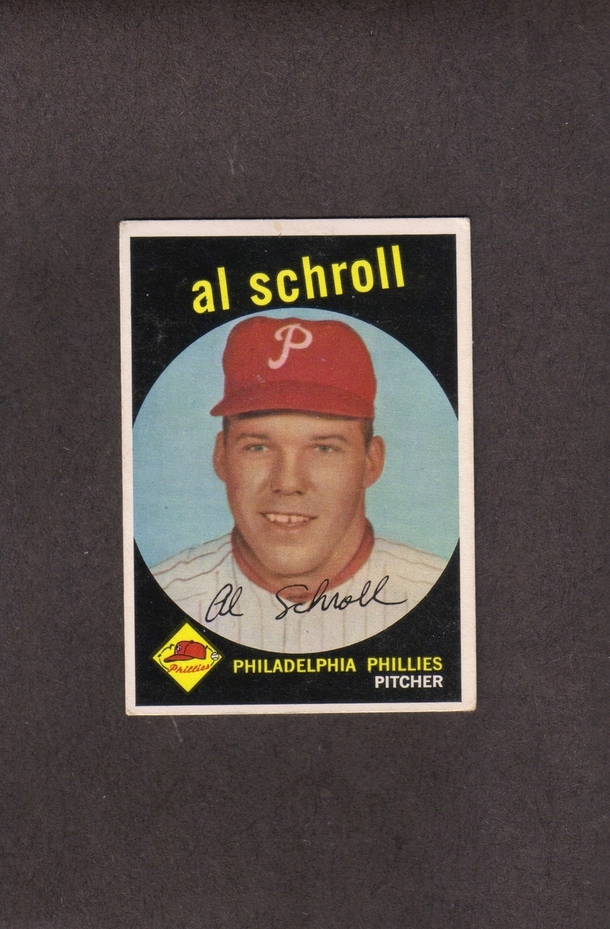 1959 Topps high # 546 Al Schroll Philadelphia Phillies