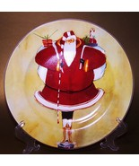 Oneida China Christmas Plate Super Size Santa A