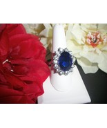 Royal Princess Zircon Sapphire Engagement Weddi... - $14.99