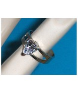 Sterling Silver Pear Shaped Simulated Diamond C... - $14.97